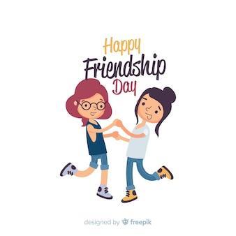 Progettazione piana del fondo di giorno di amicizia