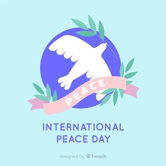 Progettazione piana del fondo di giorno di pace della colomba