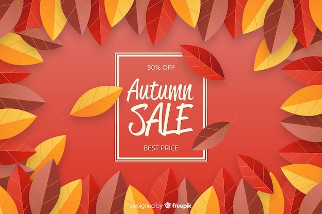 Progettazione piana del fondo di vendite di autunno