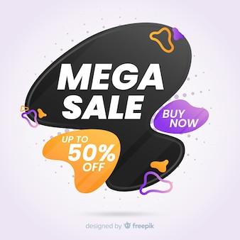 Progettazione piana del fondo mega astratto di vendite