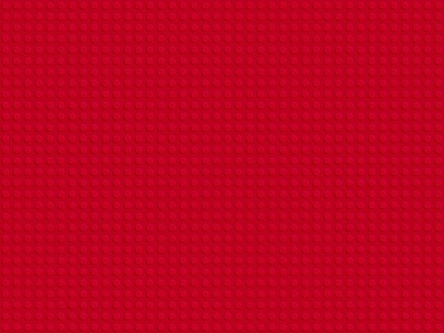 Progettazione piana del modello senza cuciture del piatto di blocchi di plastica rosso del costruttore