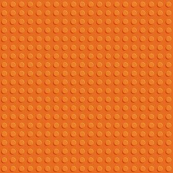 Progettazione piana del modello senza cuciture del piatto senza cuciture di plastica arancio della costruzione