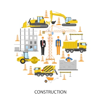 Progettazione rotonda di costruzione con sistema di barriera per muratura dell'attrezzatura per l'edilizia del personale maschile