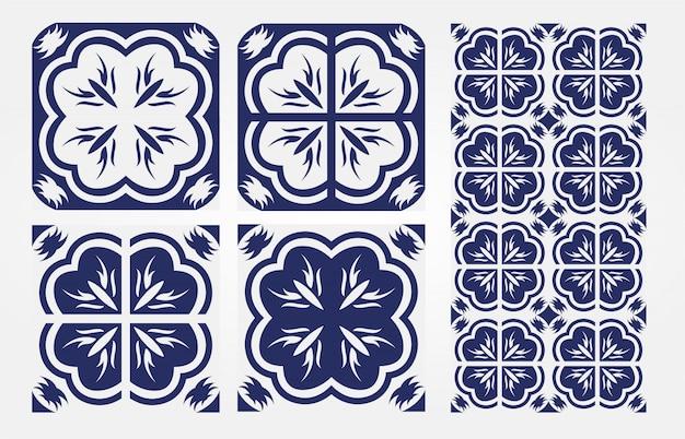 Progettazione senza cuciture antica dei modelli d'annata delle mattonelle