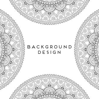 Progettazione senza cuciture del modello della mandala ornamentale di lusso