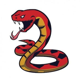 Progettazione serpente dipinto a mano