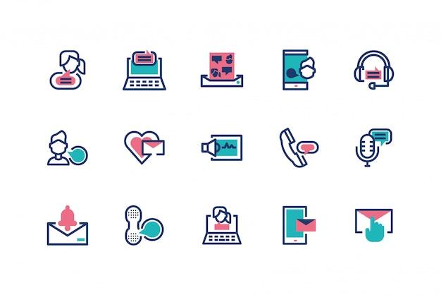 Progettazione stabilita dell'icona isolata dei messaggi