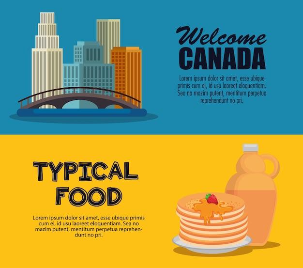 Progettazione stabilita dell'illustrazione di vettore delle icone della cultura canadese