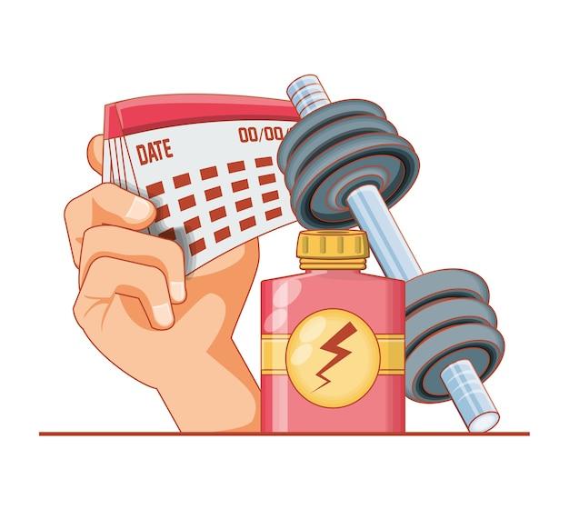Progettazione stabilita dell'illustrazione di vettore delle icone di stile di vita sano