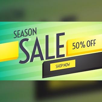 Progettazione stagione di vendita buono sconto con bei colori e forme 3d