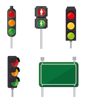 Progettazione stradale, illustrazione vettoriale.