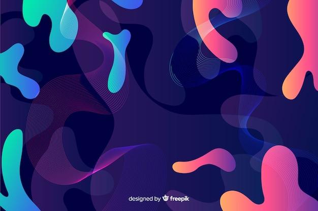 Progettazione variopinta astratta del fondo di forme di flusso