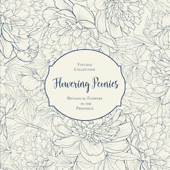 Progetto di copertina botanica con elementi floreali.