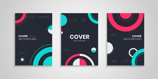 Progetto di copertina del libro con cerchi astratti
