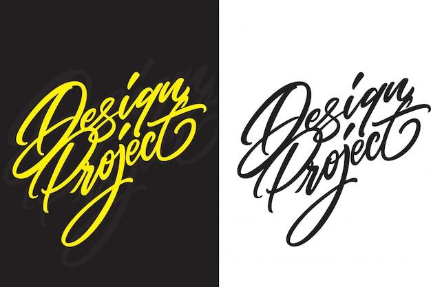 Progetto di design di handlettering