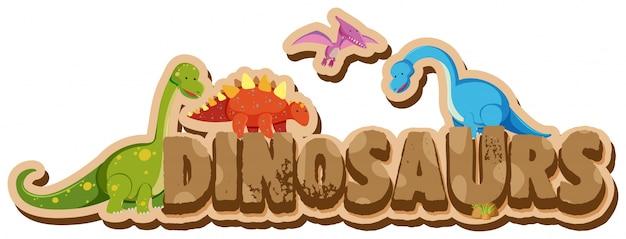 Progetto di parole per dinosauri