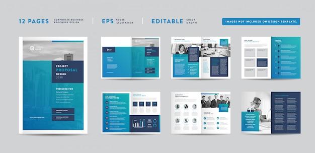 Progetto di proposta di progetto di affari corporativi | rapporto annuale e brochure aziendale progettazione di opuscoli e cataloghi