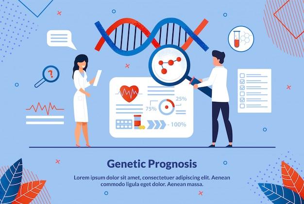 Prognosi del genetista dell'iscrizione piatta.