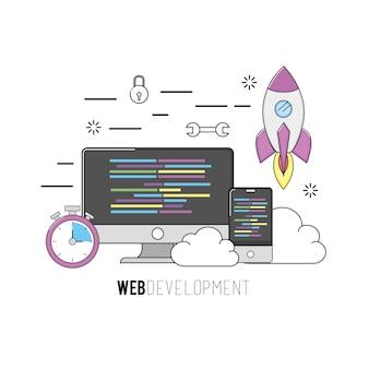 Programma di codice software per computer e smartphone