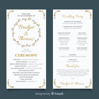 Programma di nozze