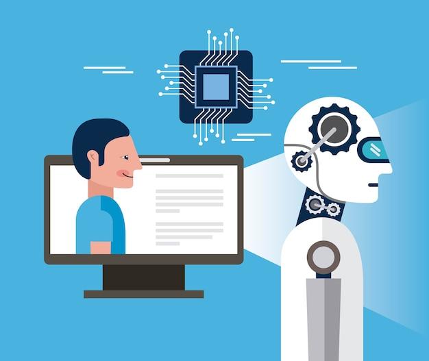 Programmazione di persona del computer di intelligenza artificiale