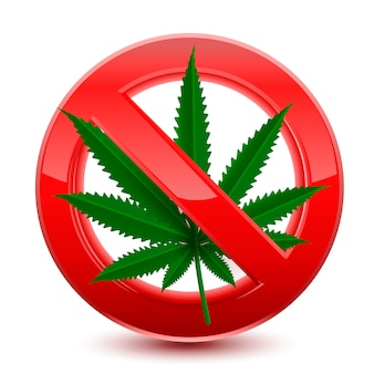 Proibito nessun segno rosso di marijuana