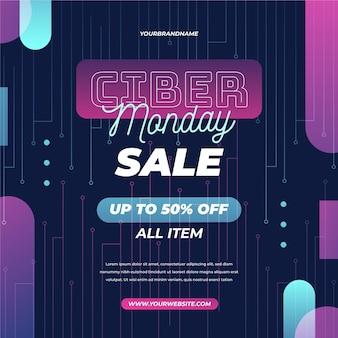 Promo di cyber lunedì design piatto