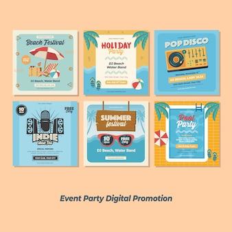 Promozione di eventi festival party digital