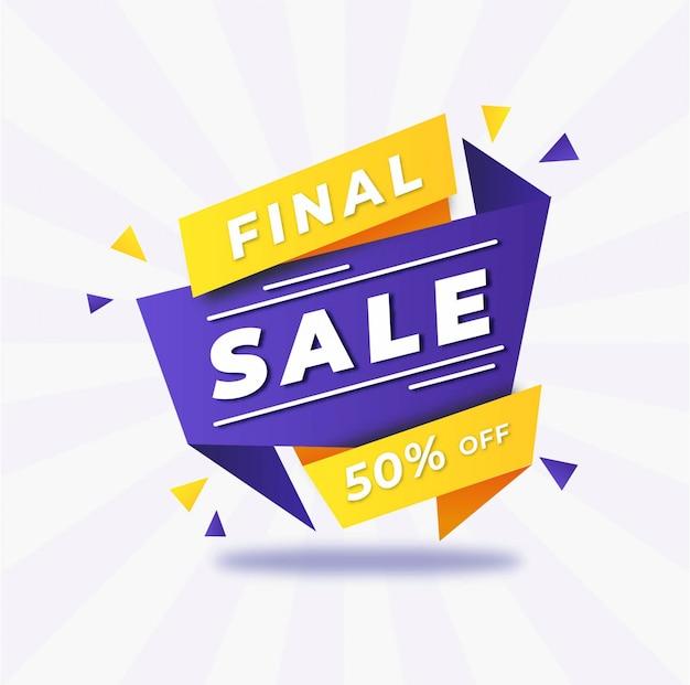 Promozione di vendita finale astratta
