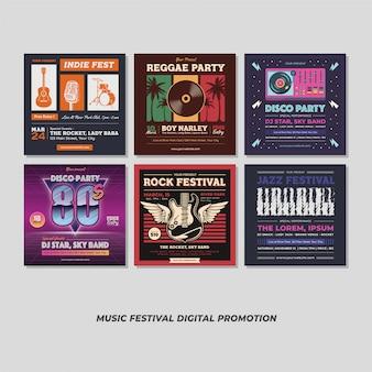 Promozione digitale di music party event festival