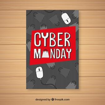Prospetto di cyber monday con mouse del computer