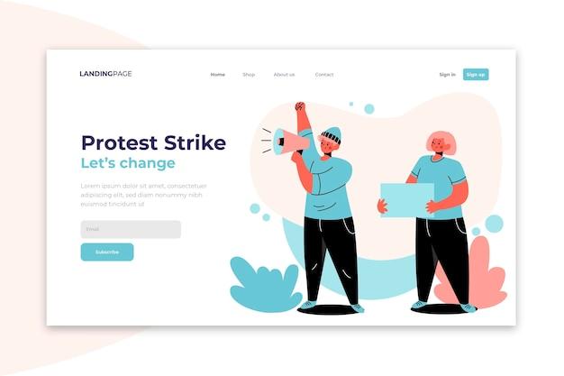 Proteggi te stesso e protesta in modo sicuro landing page