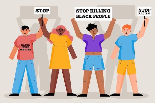 Protesta contro il concetto di razzismo