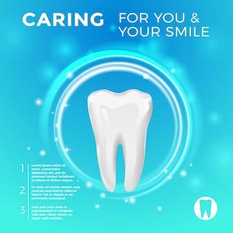 Protezione dei denti sani. immagini vettoriali per medicina