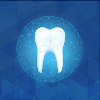 Protezione del dentista. prendendo cura del concetto dei denti.