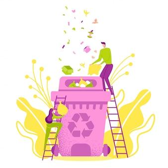 Protezione dell'ambiente, riciclaggio, riutilizzo, riduzione.