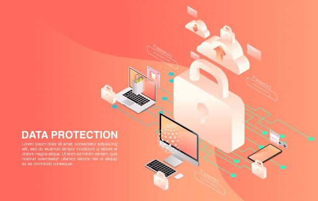 Protezione della rete e dei dati. sicurezza della rete e dei dati