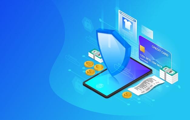 Protezione della rete, sicurezza della rete, futuri servizi web tecnologici per progetti aziendali e internet