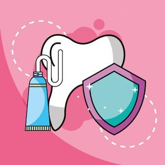 Protezione dentale del dentifricio