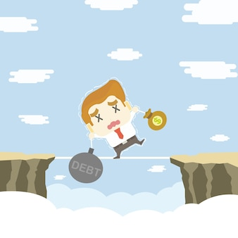 Prova dell'uomo d'affari da equilibrare, concetto di affari