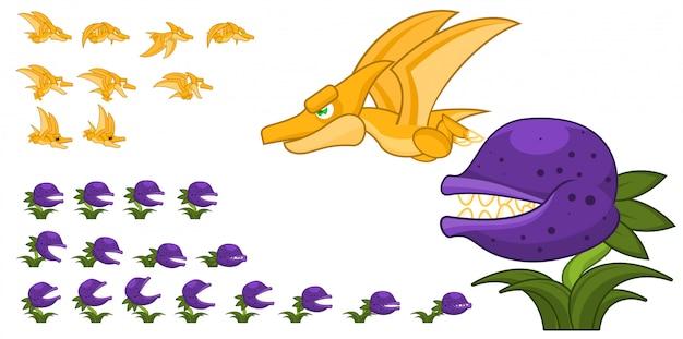 Pterodattico e pianta carnivora