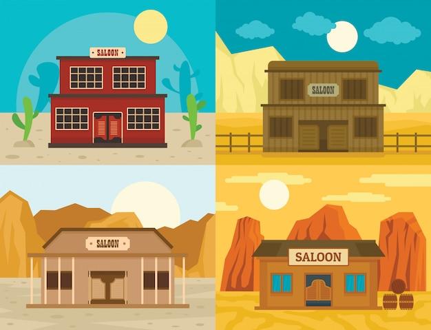 Pub del saloon selvaggio west