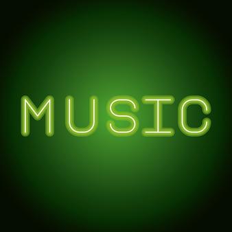 Pubblicità al neon di musica