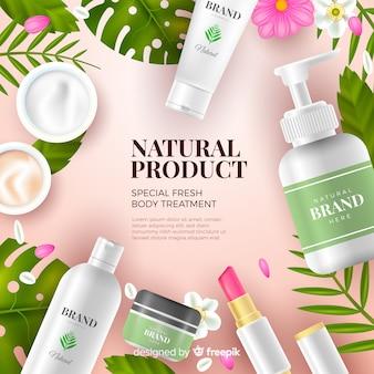 Pubblicità cosmetica naturale realistica