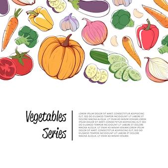 Pubblicità del supermercato di verdure biologiche fresche
