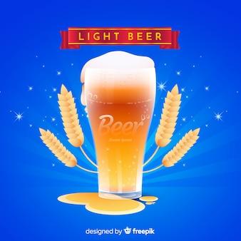 Pubblicità della birra con un design realistico
