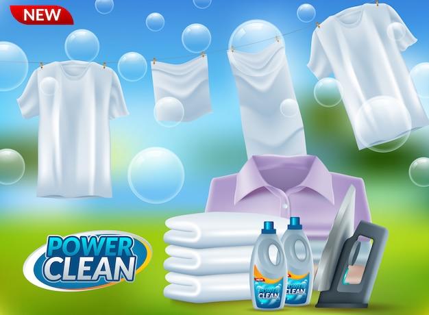 Pubblicità detergente per bucato in polvere