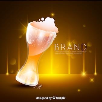 Pubblicità di birra realistica