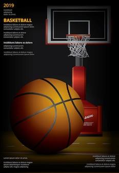 Pubblicità di poster di pallacanestro