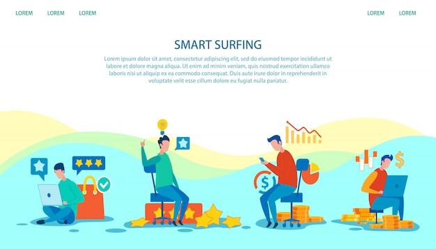 Pubblicità sulla pagina di destinazione tecnologia smart surf